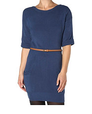 New-look-belted-pocket-knit-dress